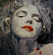 Face  Paintings - Marilyn no8 by Paul Lovering