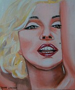 Munroe Prints - Marilyn Print by Rene Waddell
