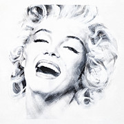 Smile Painting Framed Prints - Marilyn Three Framed Print by Jean Pierre Rousselet