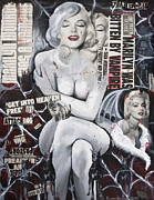 Actress Mixed Media Framed Prints - Marilyn Vamp Framed Print by Kalynn Kallweit