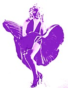 Celebrities Art - Marilyns Itch Purple by Randall Weidner