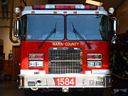 Fighters Photos - Marin County Fire Department Fire Engine . Point Reyes California . 7D15921 by Wingsdomain Art and Photography