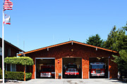 Fire Fighters Prints - Marin County Fire Department . Point Reyes California . 7D15919 Print by Wingsdomain Art and Photography