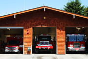 Truck Prints - Marin County Fire Department . Point Reyes California . 7D15920 Print by Wingsdomain Art and Photography
