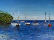 Ocean Paintings - Marina at the Grove by Eleonora Mingazova