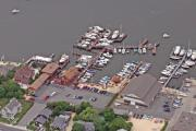 Aerial Photography - Marina Barnegat Bay Head New Jersey by Duncan Pearson