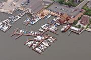 Aerial Photography - Marina Barnegat Bay Head New Jersey II by Duncan Pearson