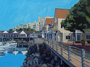 Boardwalk Paintings - Marina Bay by Deb Putnam