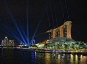 City Scape Originals - Marina Bay Sands at Night by Paul W Sharpe Aka Wizard of Wonders