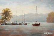 Howe Paintings - Marina Blue by Jonathan Howe