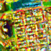 America City Map Prints - Marina District - San Francisco California USA - Abstract - Painterly Print by Wingsdomain Art and Photography