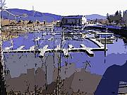 Marina Digital Art - Marina in Spring by Robert Bissett