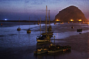 Morro Bay Posters - Marina Night Poster by Heidi Smith