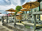 Business Greeting Cards Art - Marina Restaurant I  by Steven Ainsworth
