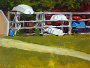 Shed Painting Prints - Marina Study No.2 Print by Anthony Sell