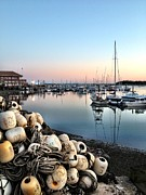 Winthrop Prints - Marina Sunset Print by Extrospection Art