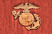 Marine Corps Photos - Marine Corps Emblem by JC Findley