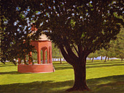 Bandstand Paintings - Marine Park South Boston by William Frew