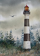 Maritime Greeting Card Painting Originals - Mariners Guiding Light by James Williamson