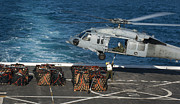 Pallet Framed Prints - Marines Attach Cargo To An Mh-60s Sea Framed Print by Stocktrek Images