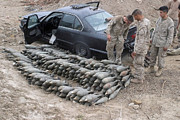 Cache Prints - Marines Discover A Weapons Cache Print by Stocktrek Images