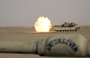 Live Fire Posters - Marines Fire Their M1a1 Abrams Tank Poster by Stocktrek Images