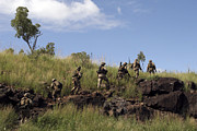 Foot Patrol Photos - Marines Patrol The Australian Outback by Stocktrek Images