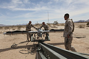 Helping Photos - Marines Place An Rq-7 Shadow Unmanned by Stocktrek Images