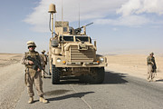 Mrap Photos - Marines Provide Security In Al Anbar by Stocktrek Images