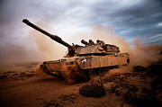 Dirt Roads Photos - Marines Roll Down A Dirt Road by Stocktrek Images