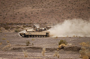 Combat Vehicles Framed Prints - Marines Roll Through The Combat Center Framed Print by Stocktrek Images