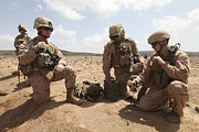 Transmitting Photos - Marines Test A Field Expedient by Stocktrek Images