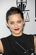 Hair Bun Photo Framed Prints - Marion Cotillard At Arrivals For Los Framed Print by Everett