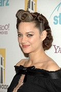 Updo Metal Prints - Marion Cotillard At Arrivals For The Metal Print by Everett