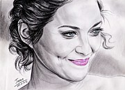 Pencils Prints - Marion Cotillard Print by Joane Severin
