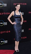 Sheath Dress Prints - Marion Cotillard Wearing A Lwren Scott Print by Everett