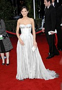 Strapless Dress Prints - Marion Cotillard Wearing A Nina Ricci Print by Everett