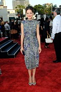Cap Sleeves Prints - Marion Cotillard Wearing An Elie Saab Print by Everett