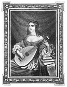 Lutenist Photo Framed Prints - MARION DELORME (c1613-1650) Framed Print by Granger