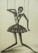 Doll Drawings - Marionette by Hannah Dise
