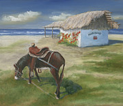 Burro Prints - Mariscos in Punta Mita Print by Jerry McElroy