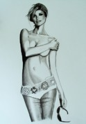 Sports Illustrated Prints - Marissa Miller Drawing Print by Keeyonardo