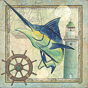 Blue Marlin Framed Prints - Maritime 1 Framed Print by Debbie DeWitt