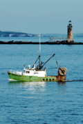 New England Lighthouse Photo Posters - Maritime Poster by Greg Fortier