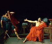 Roman Soldier Paintings - Marius at Minturnae by Jean-Germain Drouais