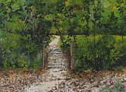 Rawlings Paintings - Marjories Gate by Larry Whitler