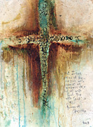 Crucifix Painting Prints - Mark 1027 Print by Michel  Keck