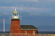 Famous Buildings Framed Prints - Mark Abbott Memorial Lighthouse California - The worlds oldest surfing museum Framed Print by Christine Till