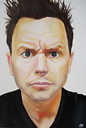 Alternative Music Paintings - Mark Hoppus of Blink 182 by Becky Ellis