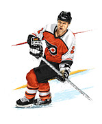 Philadelphia Flyers Framed Prints - Mark Howe Framed Print by David E Wilkinson